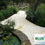 Pathway leading from pond area -